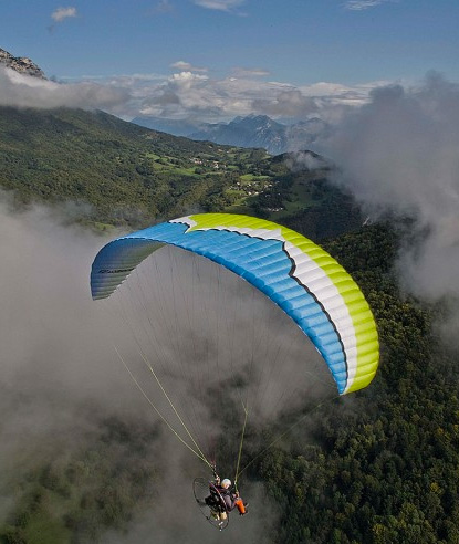 Miniplane/Ozone Roadster2 Package, MiniPlane Powered Paraglider, Top